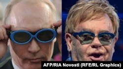 "His spokesman says Russian President Vladimir Putin (left) is ""ready to meet"" British singer Elton John and ""provide any clarifications about the issues he has."""