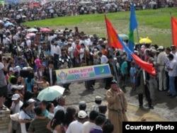 Баян-Өлгий аймағының құрылғанына 70 жыл толуына арналған мерекелік шара. Моңғолия, 24 шілде 2010 жыл.