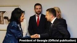 Президенти України та Грузії Володимир Зеленський (п) та Саломе Зурабішвілі (фото архівне)