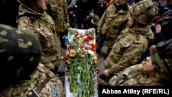 Several funerals were held in Kyiv on February 22 for protesters killed in the violent clashes with security forces.