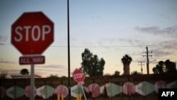 Фрагмент пограничной стены на границе США и Мексики в Калифорнии