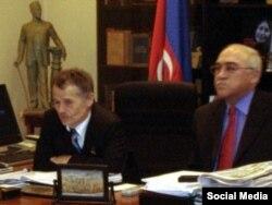 Иса Гамбар и Мустафа Джемилев. 10 марта 2007 год