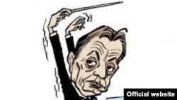 Карикатура на Виктор Орбан, премиер на Унгарија.