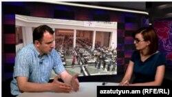 Արևելագետ Վահրամ Տեր-Մաթևոսյանը «Ազատություն TV»-ի տաղավարում, 8-ը հունիսի, 2015թ.