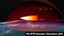 Иллюстрация действия нового российского оружия, о котором рассказал Владимир Путин