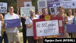 Protesti protiv emitovanja rijaliti emisija u Srbiji, arhivska fotografija
