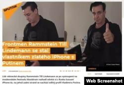 Скріншот із публікації російського видання «Супутник»