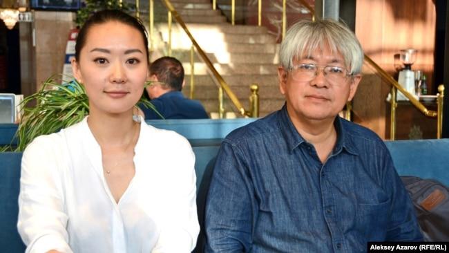 Сопродюсеры кинофильма «Конокрады» Юлия Ким и Сёдзо Ичияма. Алматы, 31 августа 2018 года.