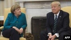 Анґела Меркель та Дональд Трамп під час переговорів у Білому домі. Вашингтон, 17 березня 2017 року