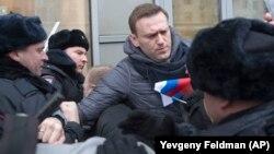 Ռուսաստան - Ոստիկանները ձերբակալում են ընդդիմադիր գործիչ Ալեքսեյ Նավալնուն, Մոսկվա, 28-ը հունվարի, 2018թ․