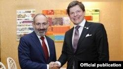 Премьер-министр Армении Никол Пашинян и председатель парламента Швеции Андреас Норлен, Ереван, 27 августа 2019 г.