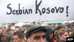 Акция протеста против «вмешательства ЕС» в дела края в сербской части Косова