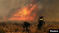 Požar u predgrađu Atine, arhiv