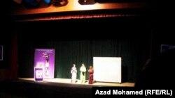 من العرض الافتتاحي لمهرجان السليمانية للمسرح