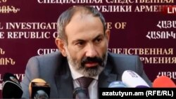 Премьер-министр Армении Никол Пашинян. 12 июня 2018 года.