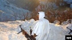 جندي تركي في عملية ضد حزب العمال الكردستاني، 2 آذار 2008
