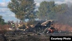 Месца катастрофы Як-42 пад Яраслаўлем