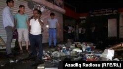 Maşın bazarında yanğından sonra