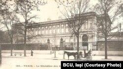 Quai d'Orsay, sediul Ministerului de Externe al Franței (Sursă: BCU, Iași)