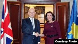Pamje nga takimi Hague - Jahjaga në Prishtinë