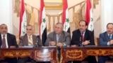 قادة سياسيون عراقيون في إجتماع عام 2007