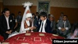 Церемония бракосочетания в Казахстане. Иллюстративное фото.