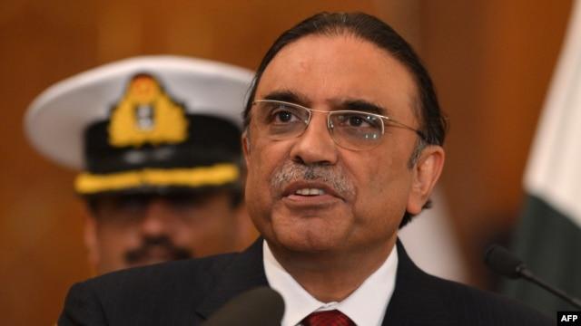 Outgoing Pakistani President Asif Ali Zardari