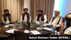 آرشیف، هیئت گروه طالبان مسلح در قطر