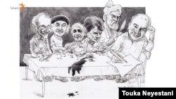 میزبان/ اسرافیل شیرچی برای استادان ادب و هنر فسنجان اردک میپزد