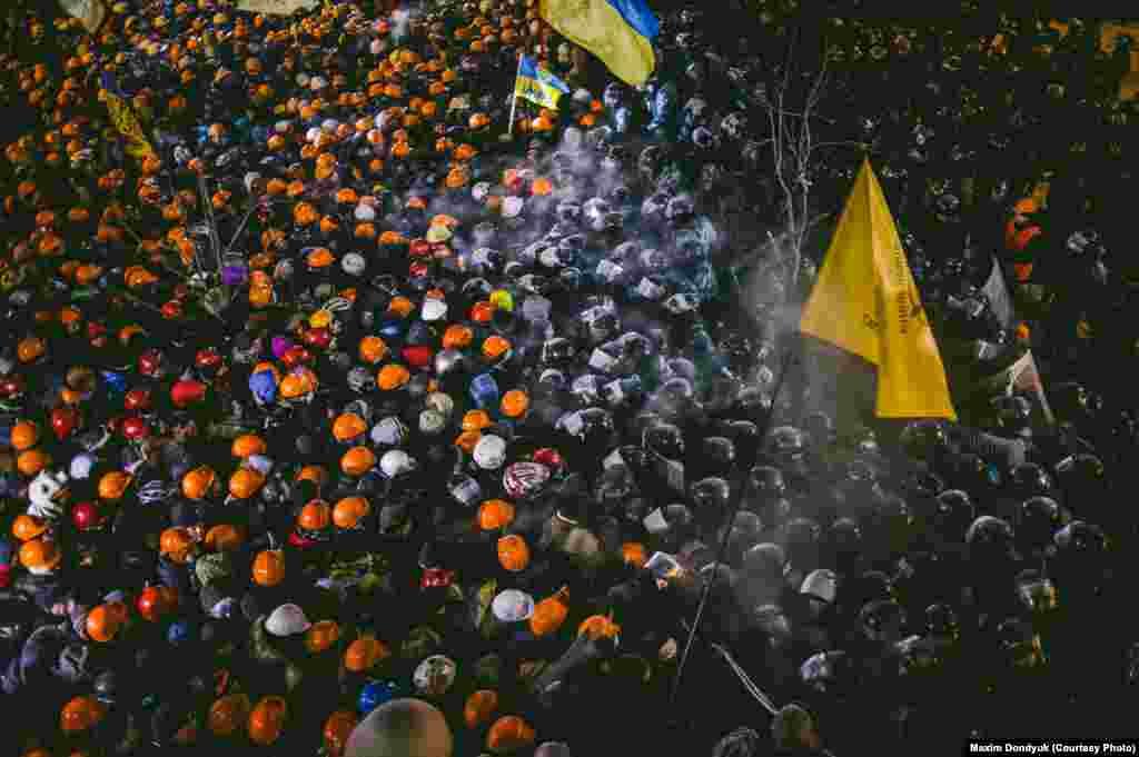 Противостояние на Майдане.