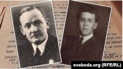 Янка Купала (зьлева) і Паўло Тычына