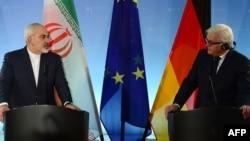 برلین- کنفرانس خبری مشترک محمدجواد ظریف و فرانک والتر اشتاینمایر، وزیران امور خارجه ایران و آلمان