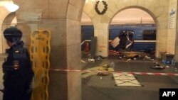 Через несколько минут после взрыва, Санкт-Петербург, 3 апреля 2017 года