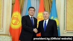 Сооронбай Жээнбеков менен Нурсултан Назарбаев. 25-декабрь, 2017-жыл.