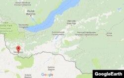 Закаменск на карте России