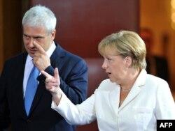 Boris Tadić i Angela Merkel, Beograd, avgust 2011.