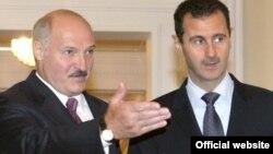 Лукашэнка і Асад сябруюць шмат гадоў, здымак зроблены на сустрэчы 26 ліпеня 2010