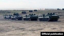 Бронетехника ВС Азербайджана.