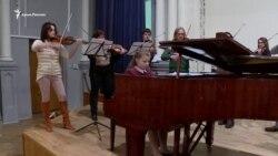 Репетиция крымчанки Христины Михайличенко с оркестром (видео)