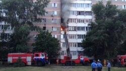ВІДЭА: Пажар у Жлобіне, 18 ліпеня 2015