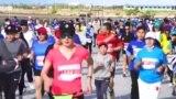 Жөө күлүктөрдүн марафону өттү