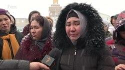 """""""Қалай күн көреміз?"""" Еңбекшіқазақта әйелдер АӘК-тен қағылғанына наразы"""