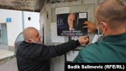 Uvredljivi plakati s likom visokog predstavnika Inzka u Srebrenici