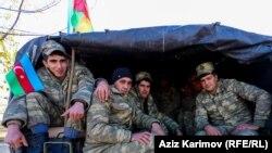 Азербайджанские военные в Агдамском районе. 24 ноября 2020 года.