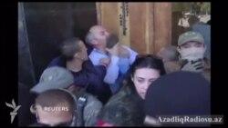 Odessada Ukrayna deputatını döydülər
