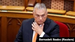 Prim-ministrul Ungariei, Viktor Orban, la ședința inaugurală a Parlamentului de la Budapesta, 20 septembrie 2021