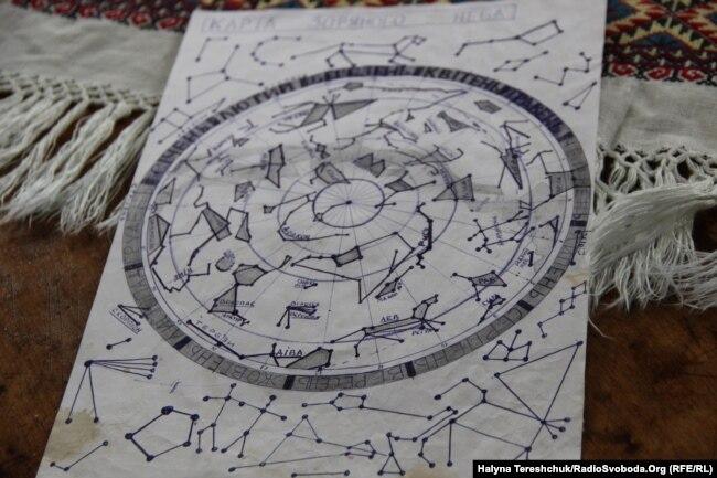 У Лефортово Андрій Оприско намалював карту зоряного неба