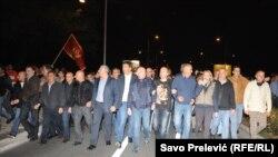 Andrija Mandić i drugi političari na protestu koji je organizovao DF, oktobar 2015