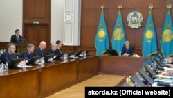 Заседание правительства с участием президента Касым-Жомарта Токаева, Нур-Султан, февраль 2020 года.