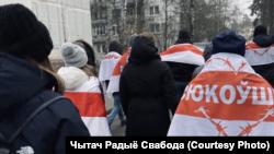 Protestatari anti-Lukașenka la Minsk, 20 decembrie 2020